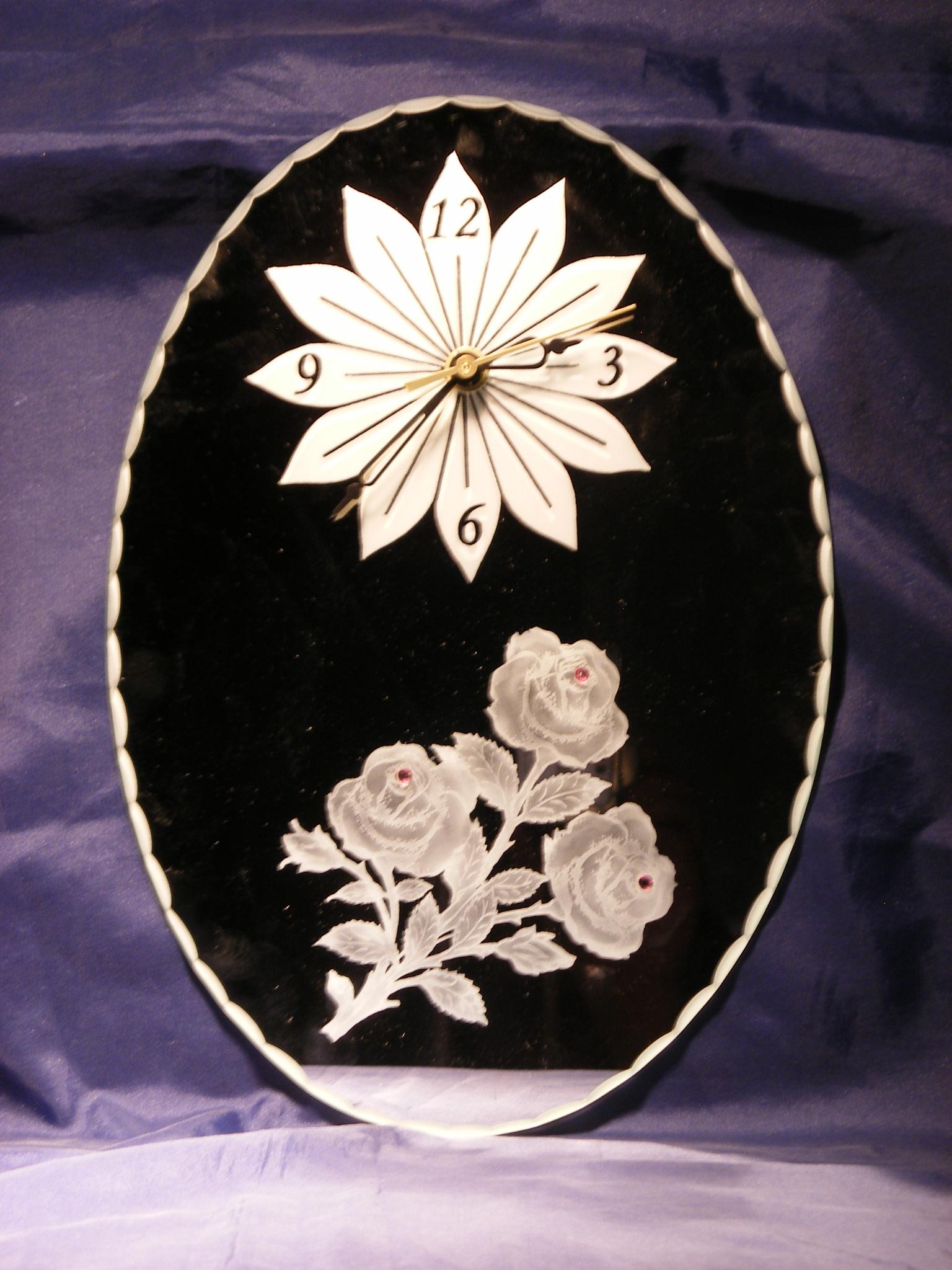 Horloge 30 x 21 cm Roses