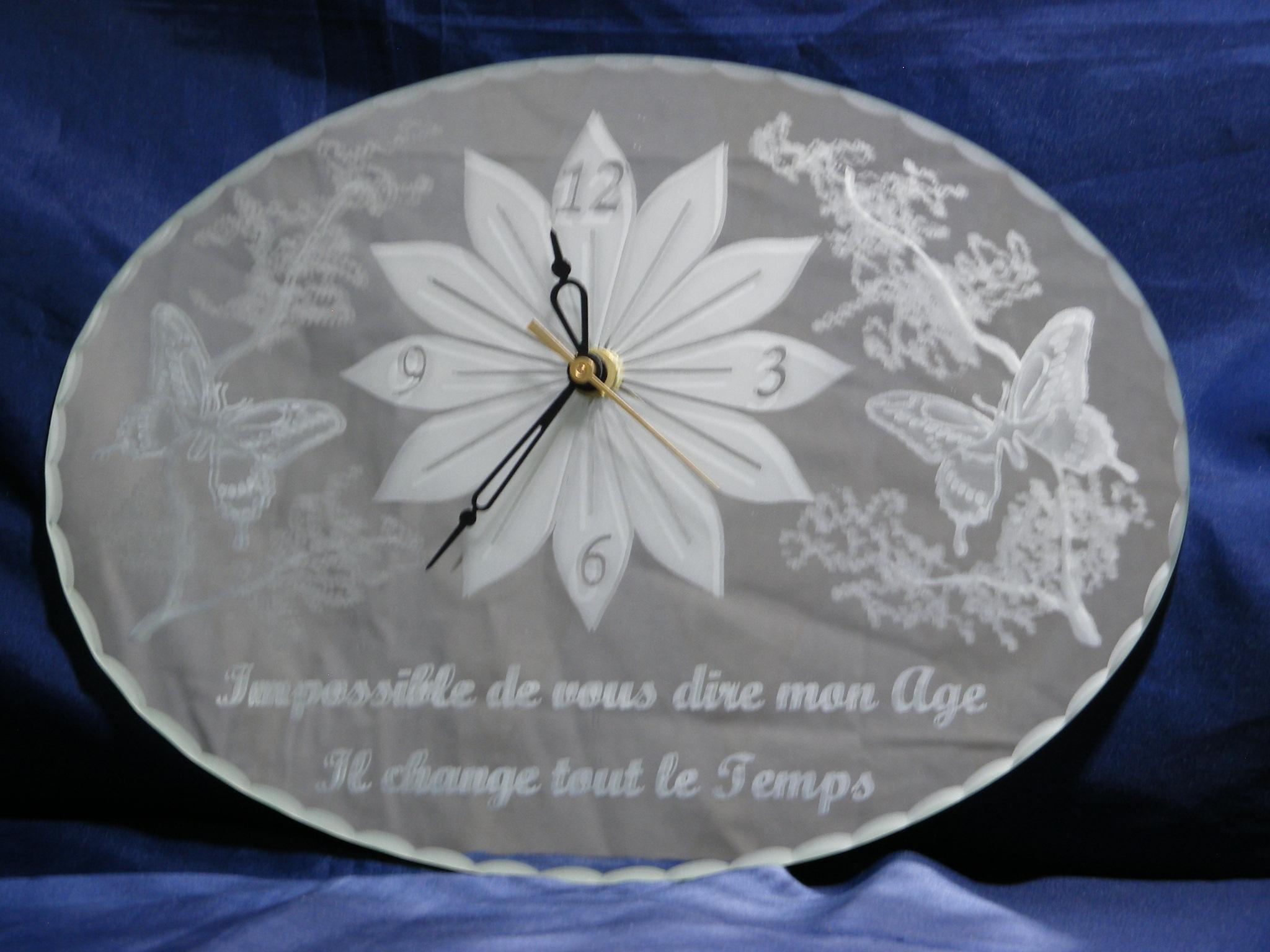 Horloge 30 x 21 cm Anniversaire