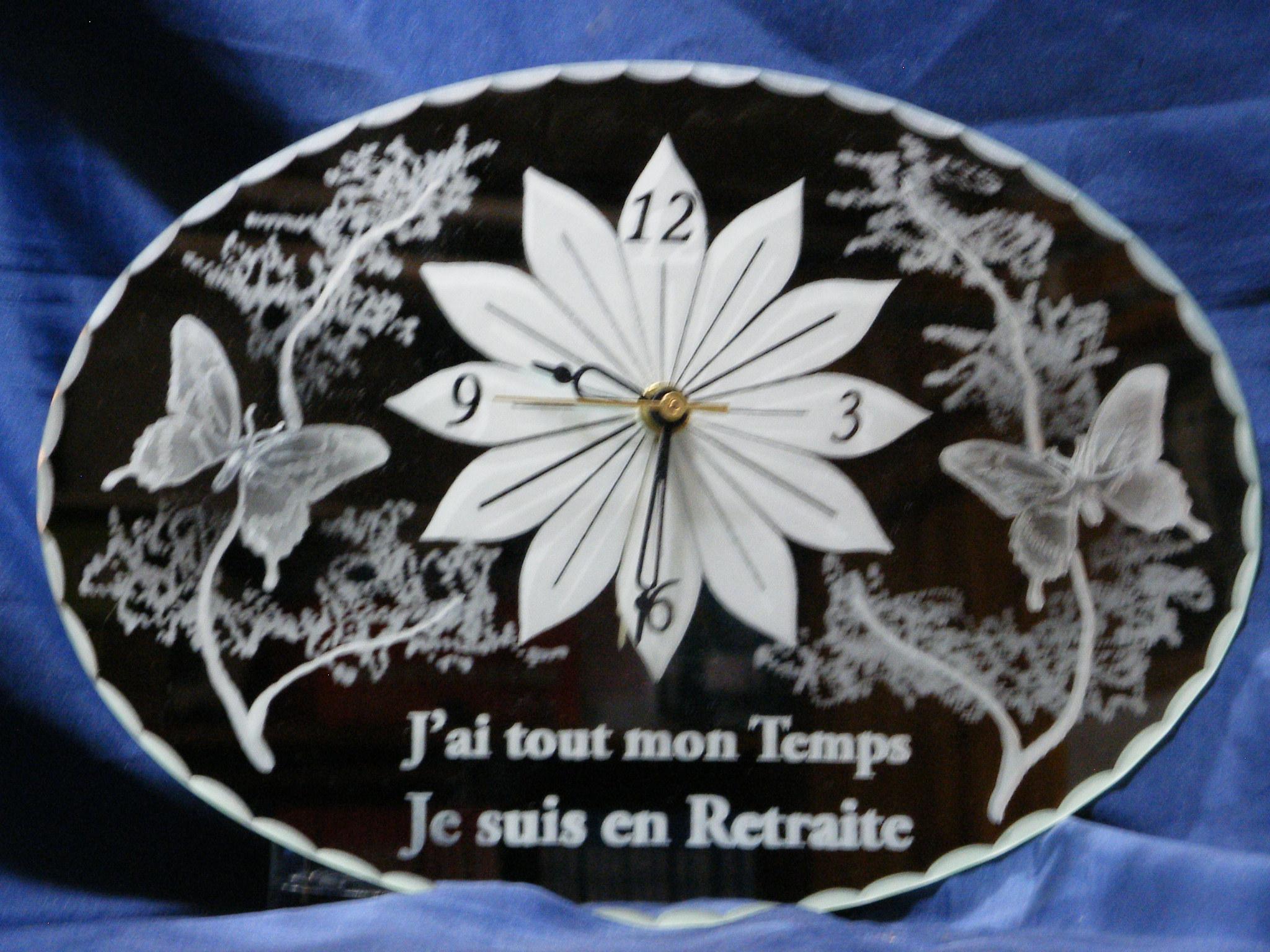 Horloge 30 x 21 cm Retraite