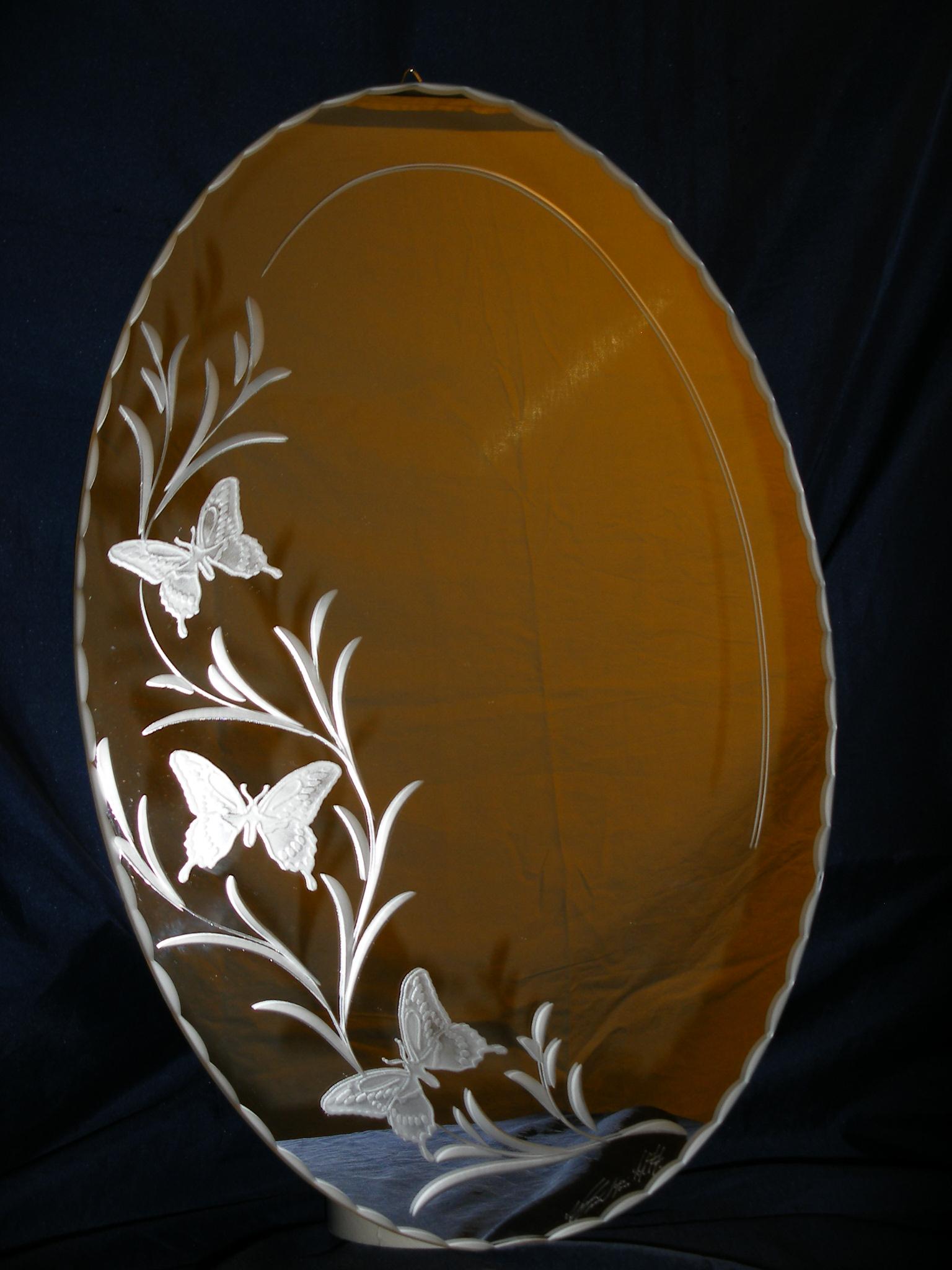Miroir 45x30 papillons